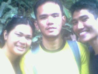 During our post-graduation outing at Tinago Falls..With me are KC and Edz...