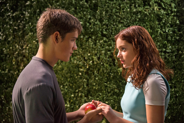 A scene from the movie THE GIVER